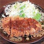 葱や平吉 - 黒豚ヒレカツ(葱味噌ソース)