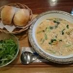 うめわかカフェ - Aランチ  週替わりスープ