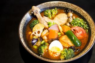 カレー食堂 心 - 人気No.1!トリと野菜のスープカレー