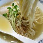 中華そば 熊野 -  中華そば塩の麺
