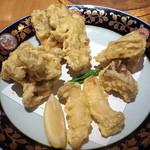 丸海屋 離 - 4種きのこの天ぷら(780円)