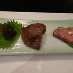 44897028 - ローストビーフ、牛肉味噌漬け、しぐれ煮