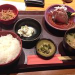 麹蔵 - 鰹のたたき定食@600円