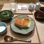 かんみこより NU茶屋町プラス店 - こよりのどら焼きセット(ドリンク付) 930円(税込)