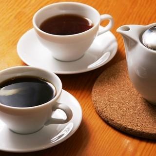 紅茶、コーヒー