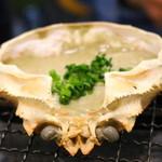 磯丸水産 - 蟹味噌甲羅焼き