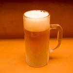 柳亭 - 相性抜群のキンキンに冷えたビール!