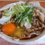 44909955 - 肉そば(430円)+生玉子(サービス)