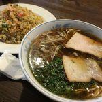 洋食 ひらおか  - 中華そば+ハムライスのセット810円