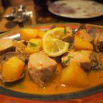 44914876 - 豚肉とアサリとジャガイモ。