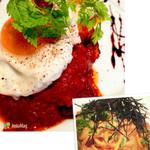 44915302 - 牛頰肉の赤ワイン煮、生ウニのパスタ♡