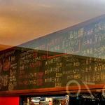 マリスコ - 黒板に記されたメニュー(2015年11月)