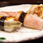 小笹寿し - 鮑、煮烏賊、蛤