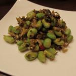 44918059 - 枝豆と高菜の炒め250円
