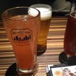 日本酒バル 仙台まるいち総本家 - あまおう苺ハイボール、エクストラコールド、巨峰キティ(?)