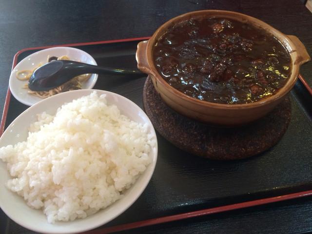 中國家常菜 蘭蘭 麻辣火鍋館 - 牛すじ煮込み定食