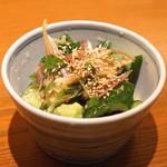 玄挽蕎麦 NAGARA - 胡瓜と茗荷の梅酢和え