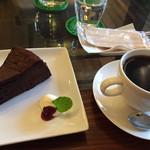 カフェ・ロウライフ - 濃厚ガトーショコラ、コーヒー   セットで850円