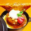 ペルシュ - 料理写真:リンゴのタタングラタン ¥486- リンゴのコンポートにスポンジ グラタン部分が美味しかったぁ(-´∀`-)
