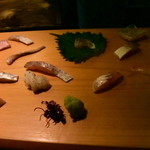 Kaizan - 希少な魚のオンパレード、で、この盛り付けは前衛芸術的な~