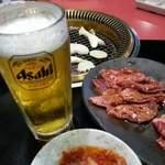 焼肉五苑 - ビールとともに