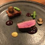 タワラ - シャラン産鴨、無花果ソース(2015年11月ディナー)