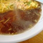 モンシターハンテン - スープの表情 つゆだくで麺が見えない