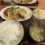 食堂四川一よし - 豚肉と野菜の黒コショー炒めです。