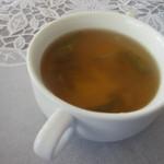 お食事処 なごみ - ビュッフェのコーナーからスープは野菜スープを選んで来ました。