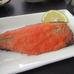 44931686 - メインの鯖明太は鯖の上にたっぷり明太子を塗って焼き上げた絶品の商品でしたよ。