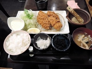 地蔵 - カキフライ御膳1580円