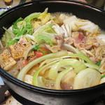 久や - 料理写真:地鶏のすき焼き