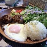Cafe Koume - ロコモコです 結構ボリュームありました