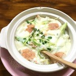笑顔料理 ふくしま - 料理写真:明太鮭チーズのせリゾット