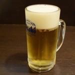らーめん・仁 - 生ビール中490円
