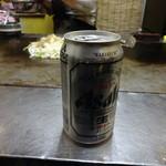 ぐじゃ焼き・お好み焼 森下 - 缶ビール320円(税込)