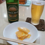 高社郷 - 台湾ビールと突き出しザーサイ