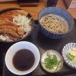 くまうし - 豚丼とミニ田舎そば(冷)