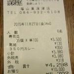 無添くら寿司 - レシート(2015.11.27)