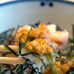 福太郎 - 明太子・ウニ・イクラ・帆立・メカブを合わせた、夢のような企画の贅沢丼です。 メカブのとろりん感が全体をまとめるお役目になってます。