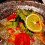 ポレポレ - カルパッチョ♡<゜)#)))彡柑橘ソースで( *´艸`)オイシー