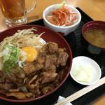 44951999 - 鉄板焼 スタミナ丼 700円 (ご飯大盛り ・おかわり自由)