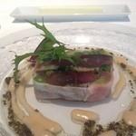 44962126 - 前菜 赤葱と鯖のテリーヌ