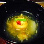 Kaisekichayamizuoto - 椀:海老芋まんじゅう餅粉揚げ_201411_夕食