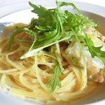 44964742 - レイトランチセット<平日限定> 1649円 の自家製ベーコンと白菜のクリームスパゲッティー柚子風味