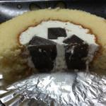 44965295 - ゆずのロールケーキ断面