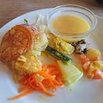 柊 - 前菜とミニスープ