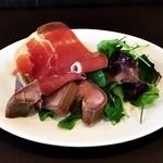 航旅莉屋 - 前菜「お肉のプレート」:生ハムとスモークタン