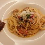 イタリア料理 La sette - パスタ(ホロホロ鳥とキノコ 軽いクリームソース)