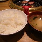 大同門 - ご飯&お味噌汁